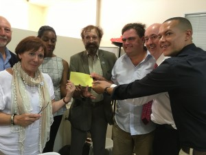 Presentation of GSC funds to Athens Metroplolitan Clinic KIFA near Omonia