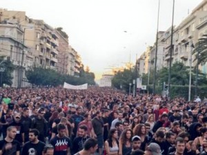 September 2013 anti fascist mass demonstration Athens