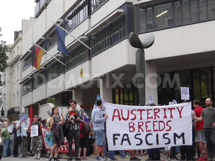 greece solidarity protest at german embassy london july. Black Bedroom Furniture Sets. Home Design Ideas